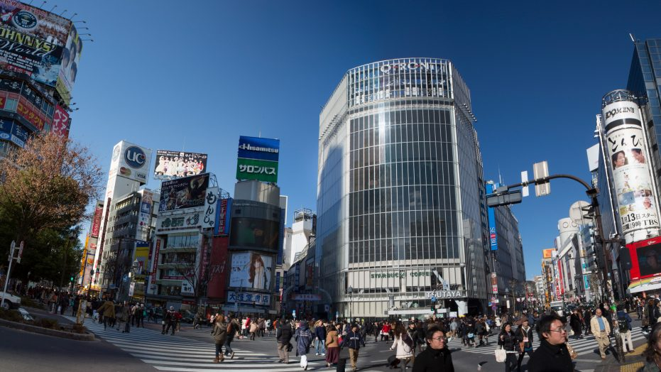 Tokyo, Japan- Shibuya Square. University international travel programs.