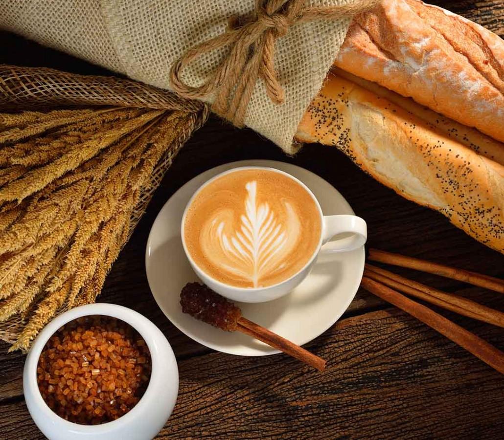 Espresso, french bread, cinnamon and sugar from France