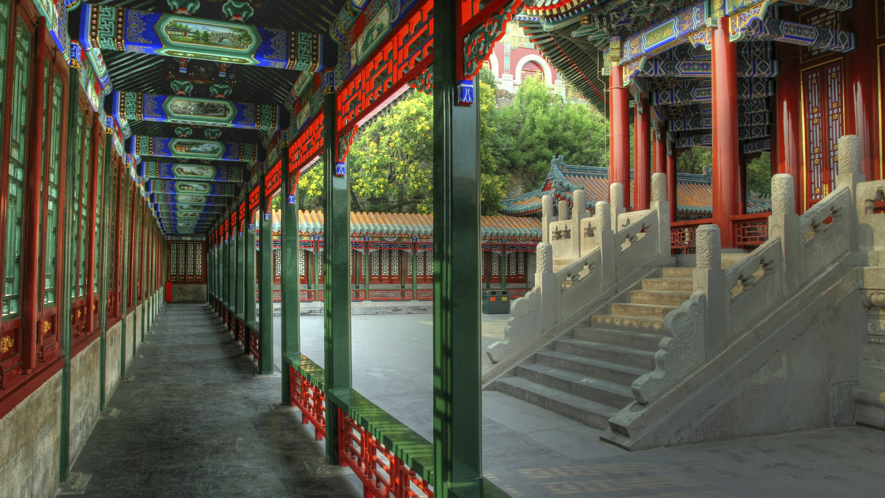 Summer Palace Corridor. Beijing, China. Student experiential travel.