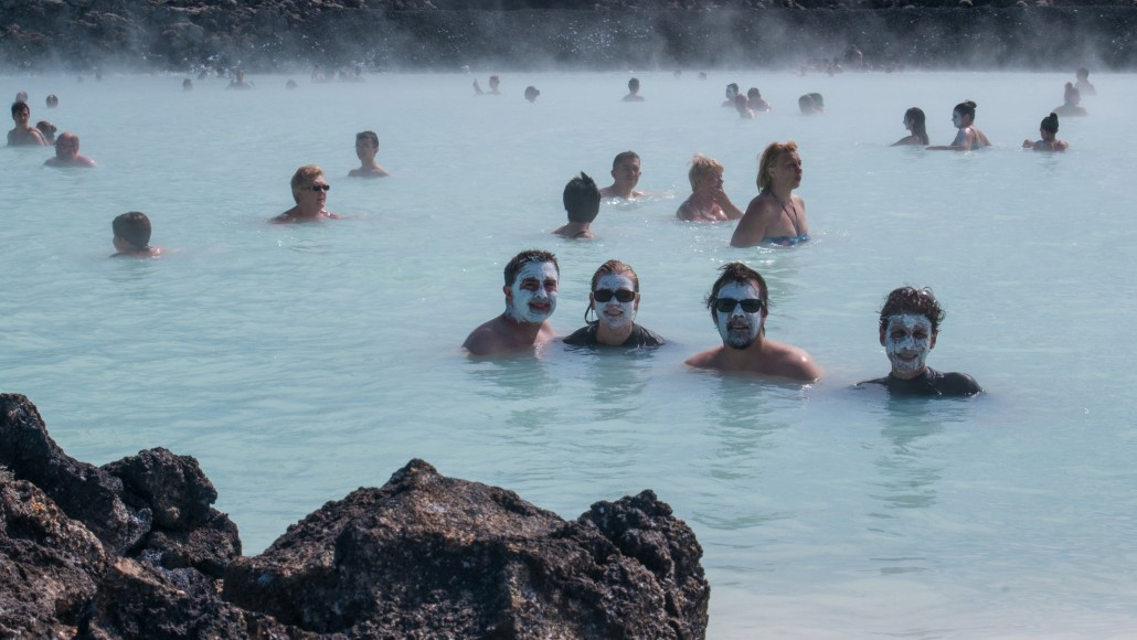 Iceland Hot Spring Swimmers