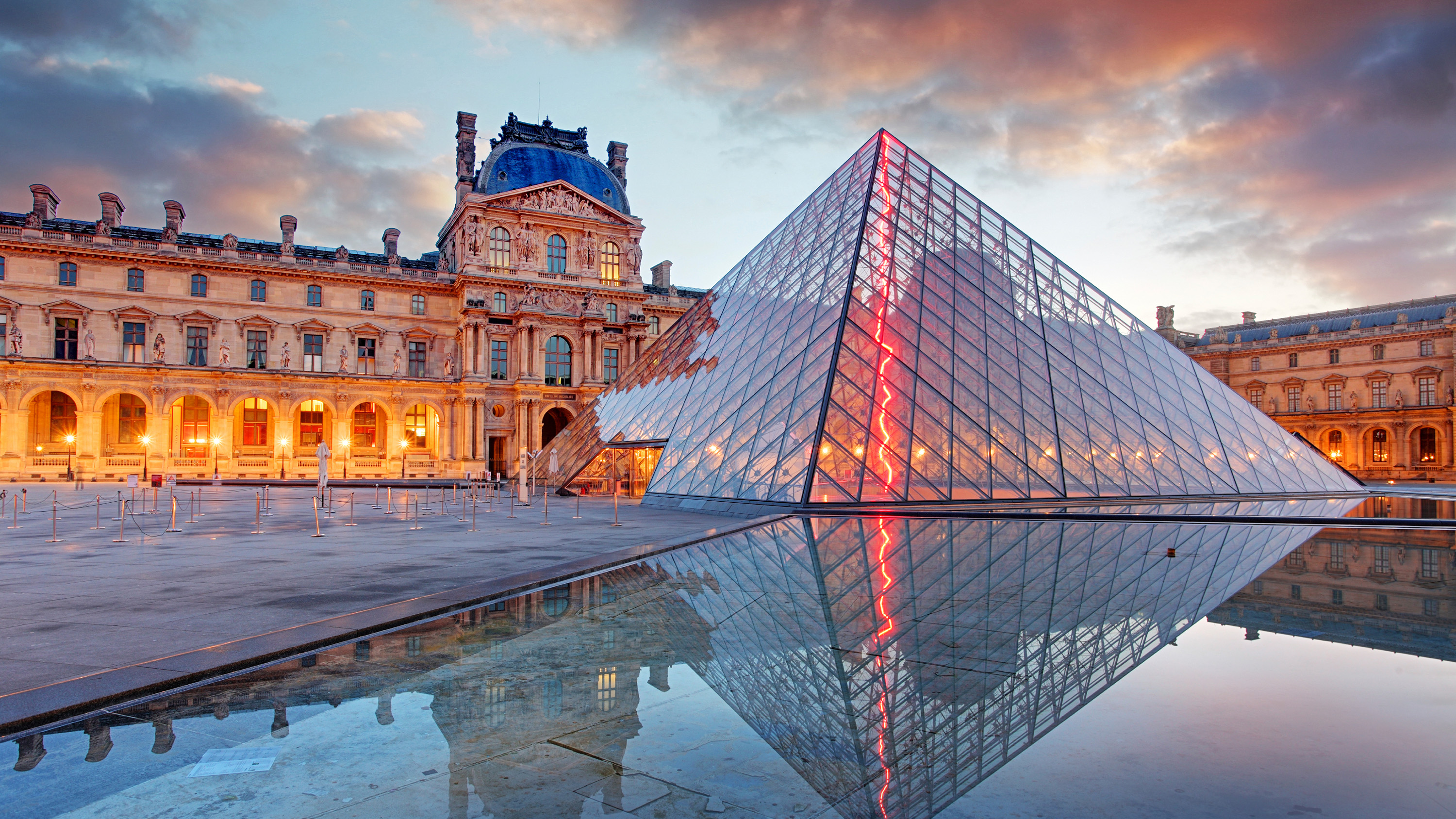 Paris, Louvre Museum and the Pyramid
