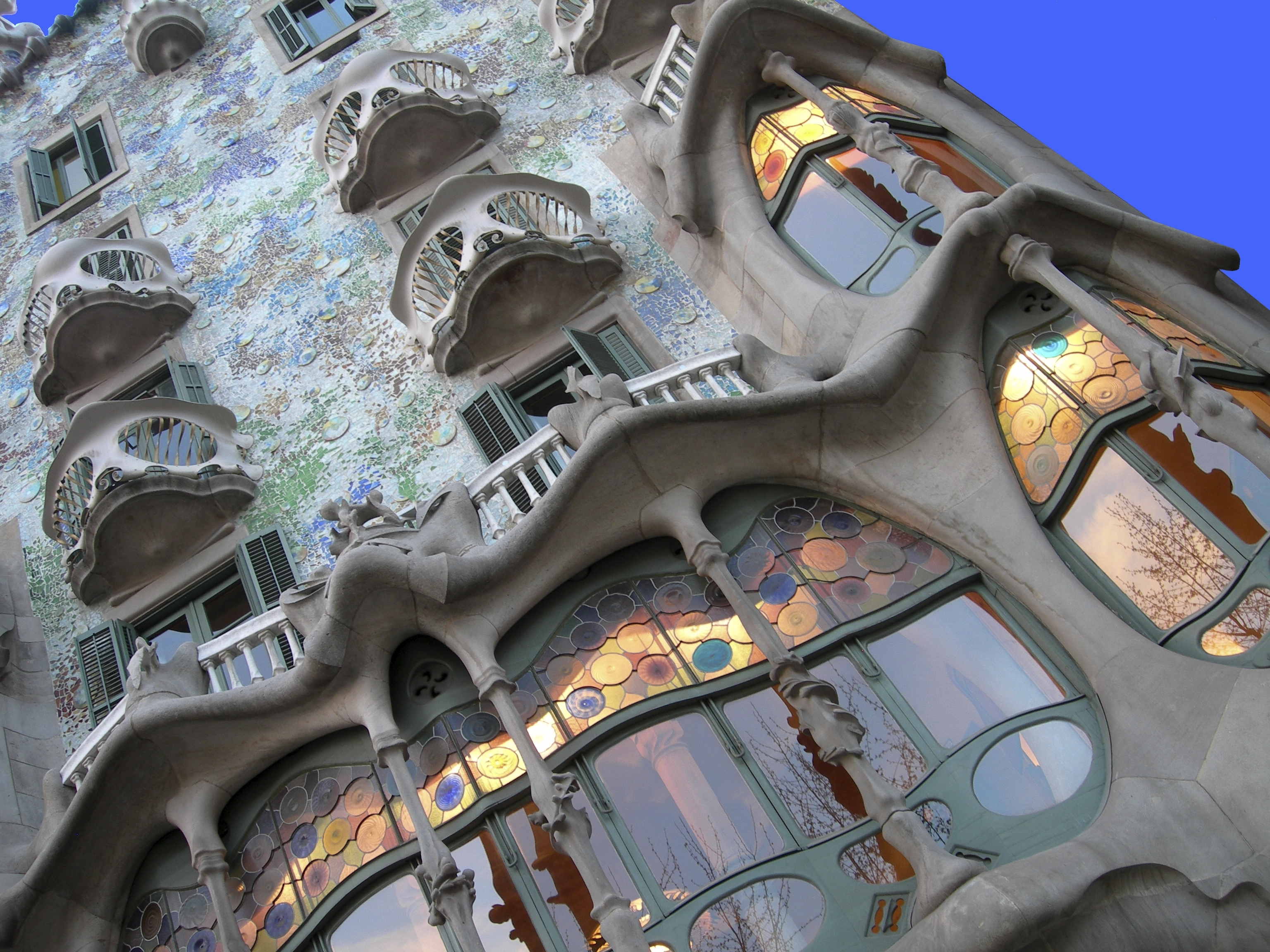 Art and Architecture. Antonio Gaudi, Casa Battlo, Spain