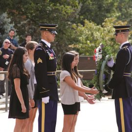 Washington DC National Arlington Cemetery Wreath Laying Students