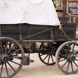 Pioneer Wagon at Sutter's Fort, Sacramento, California