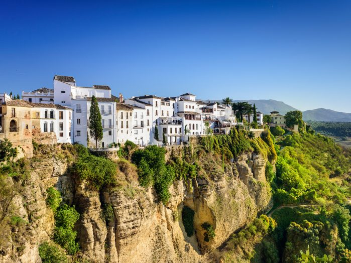 Cliff-side town of Ronda, Spain.