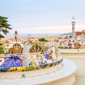 Park Güell, designed by Catalan architect Antoni Gaudí. Barcelona, Spain