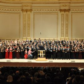 Carnegie Hall stage choral performance