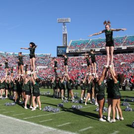 TaxSlayer Bowl Dance & Cheer Program Join WorldStrides OnStage programs in sunny Jacksonville, Florida to perform in the TaxSlayer Bowl Halftime Show and Downtown TaxSlayer Bowl Parade! Instead of choosing between attending a cheer camp or convention and performing on a big stage, why not get it all? The TaxSlayer Bowl offers your cheer team an opportunity unlike any other. The game itself averages more than 70,000 fans in attendance. Squads of all levels and size are invited; take advantage of world-class cheer education and grow your program with the performance experience of a lifetime! This event is open to performers aged 7-19.