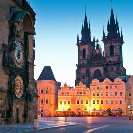 Old Town Hall and Church of Our Lady before Týn - Prague, Czech Republic