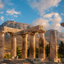 Temple in Corinth - Corinth, Greece