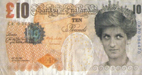 Banksy's Di-faced Tenner