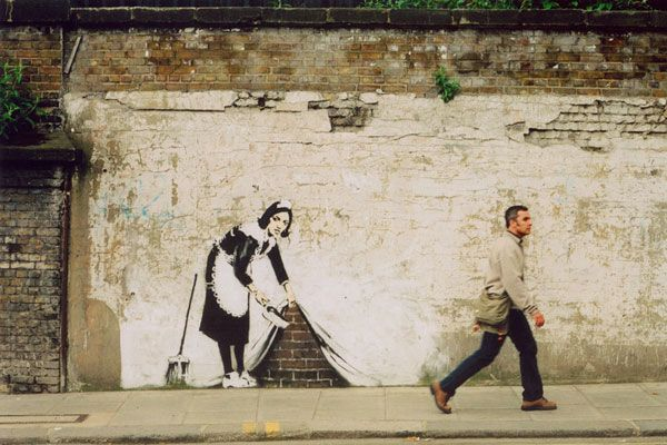 Banksy's Sweeping it Under the Carpet