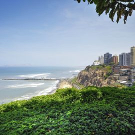 Miraflores Town landscapes in Lima ,Peru