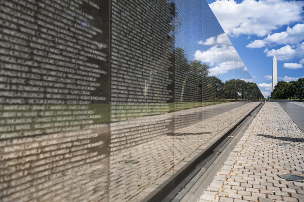 Vietnam Veterans War Memorial on the National Mall in Washington DC USA