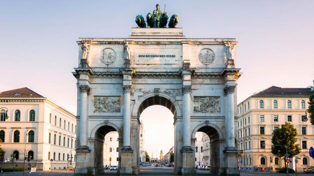 Siegestor Triumphal Arch Munich