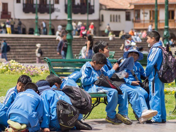 Cuzco Peru School Children