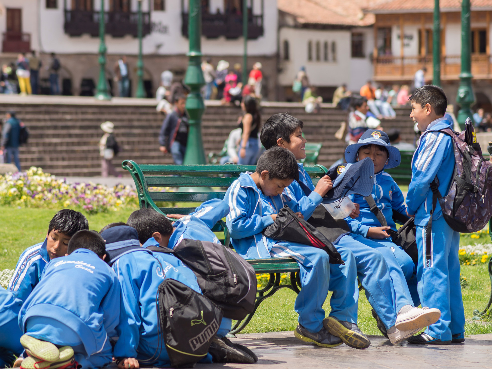 Cuzco Peru School Children