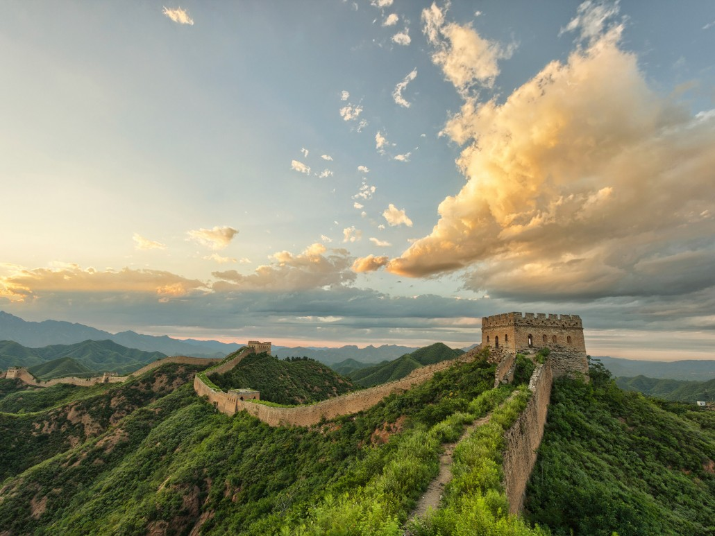 Great Wall of China Skyline