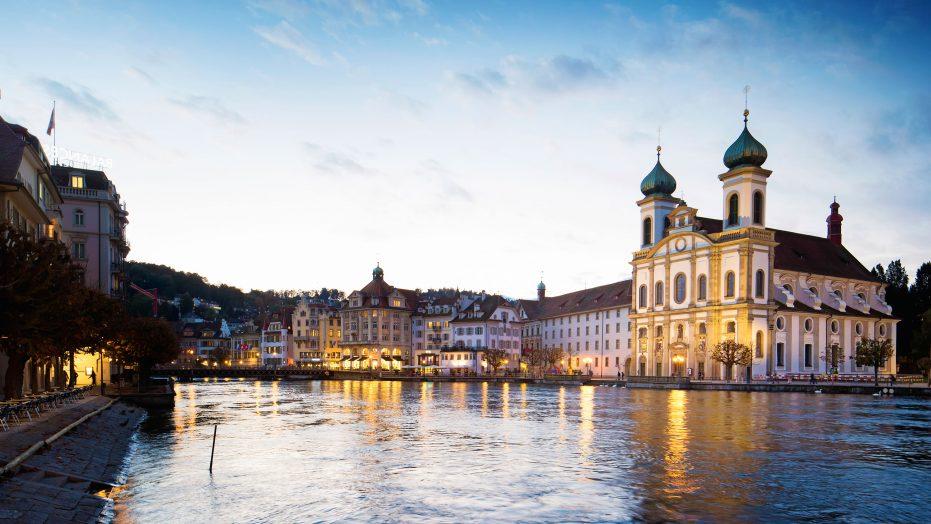 Lucerne Switzerland Jesuit Church