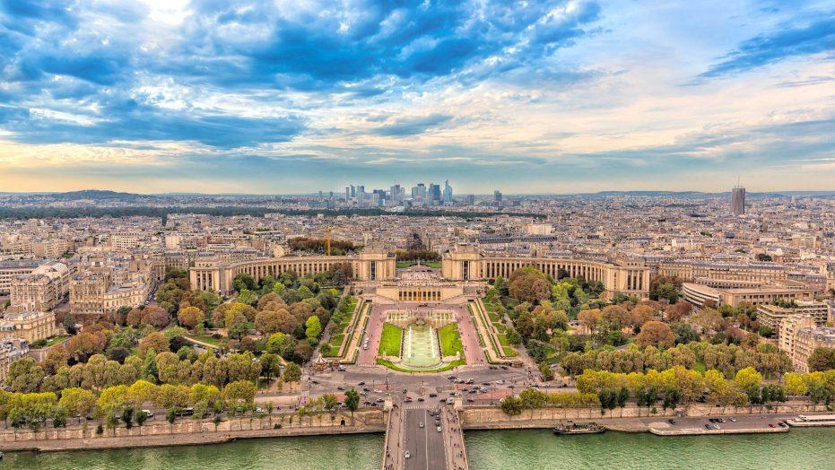 Aerial View Paris France