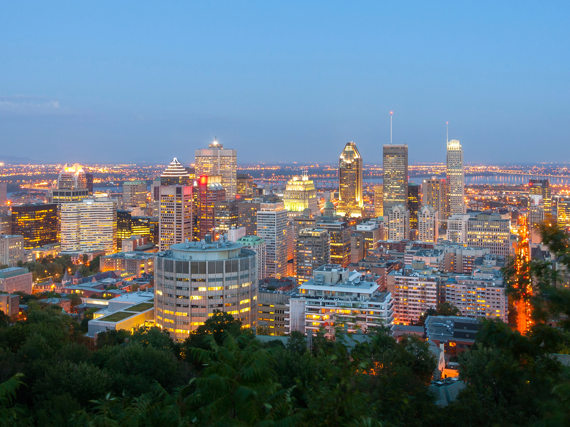 Montreal Canada Cityscape Sunset