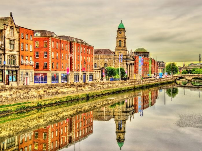 View of Dublin with the River Liffey