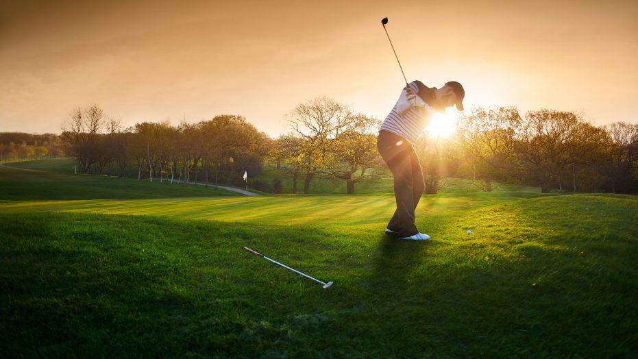 Golfer on the fringe