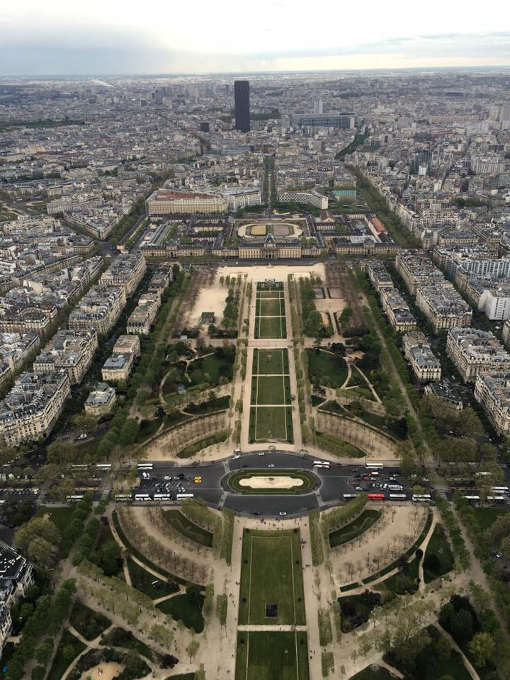Upper view from the Eiffel Tower