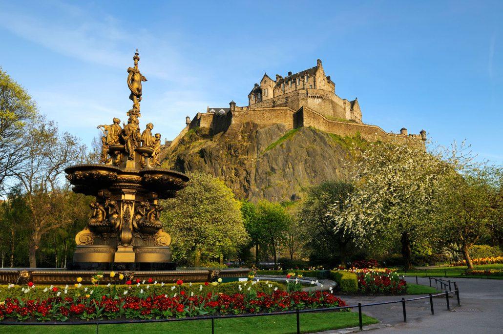 WorldStrides Soccer travel to Edinburgh-Castle-England