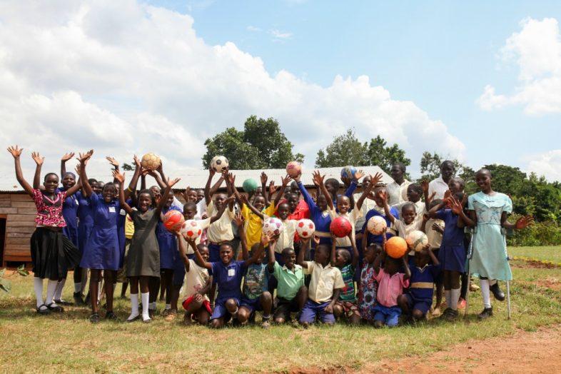 Uganda leadership programs - soccer ball donation