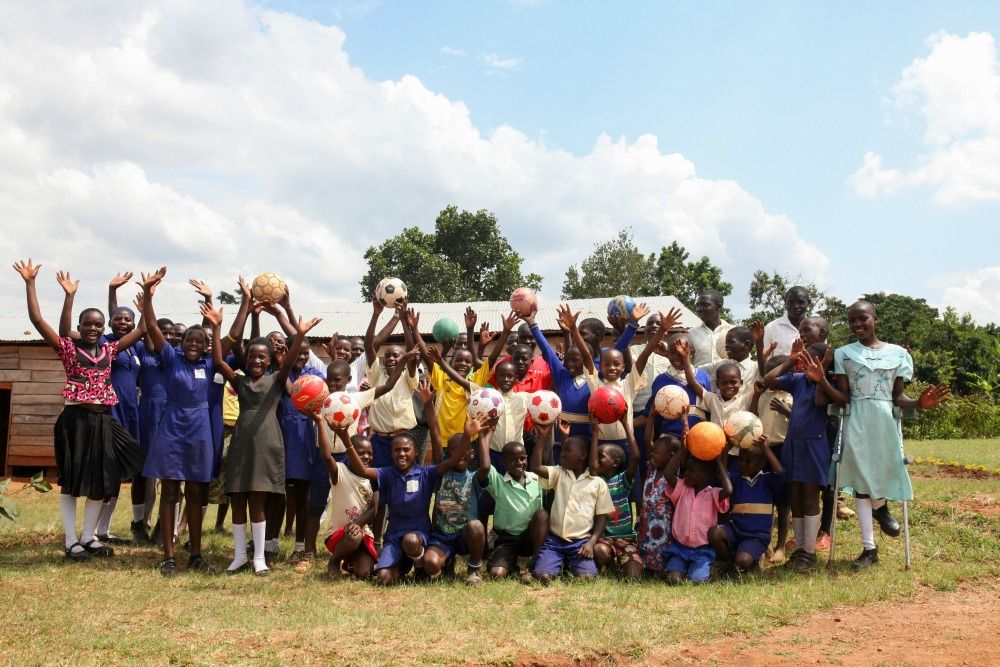 Uganda leadership programs - soccer ball donation