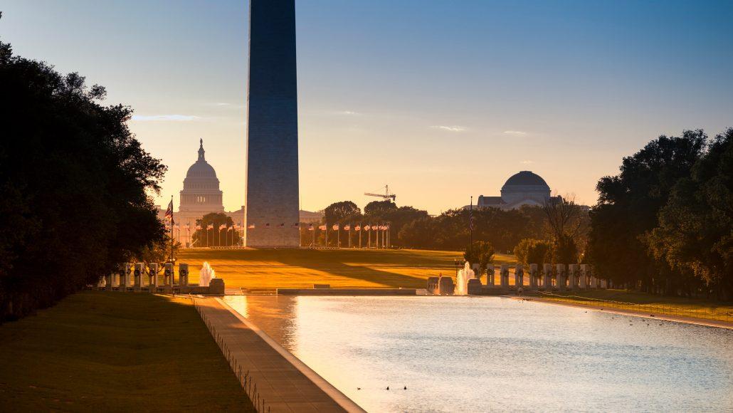 Jefferson Memorial, Capitol Building, Washington Monument, Washington, D.C.
