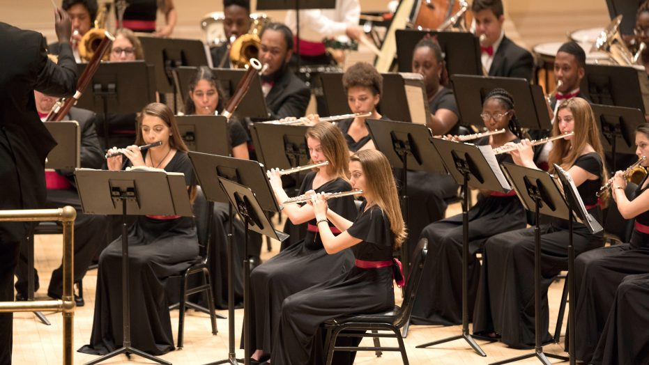 Students perform at the world-famous Carnegie Hall