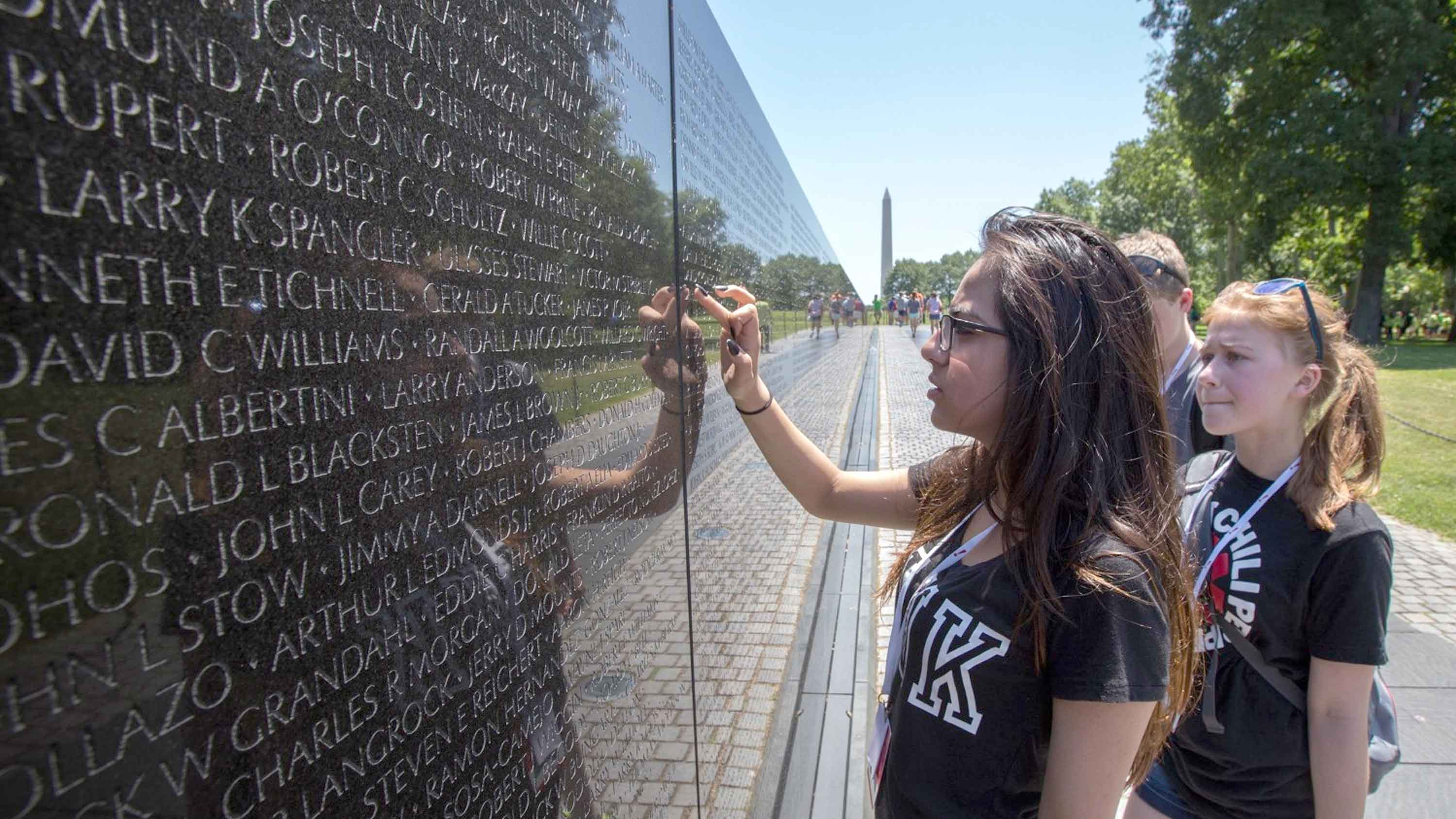 Educational Travel to Washington, D.C. where students can experience the Vietnam Memorial