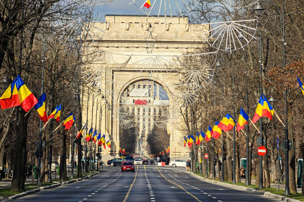 The Arch of Triumph Bucharest Romania