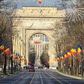 The Arch of Triumph Bucharest Romania,
