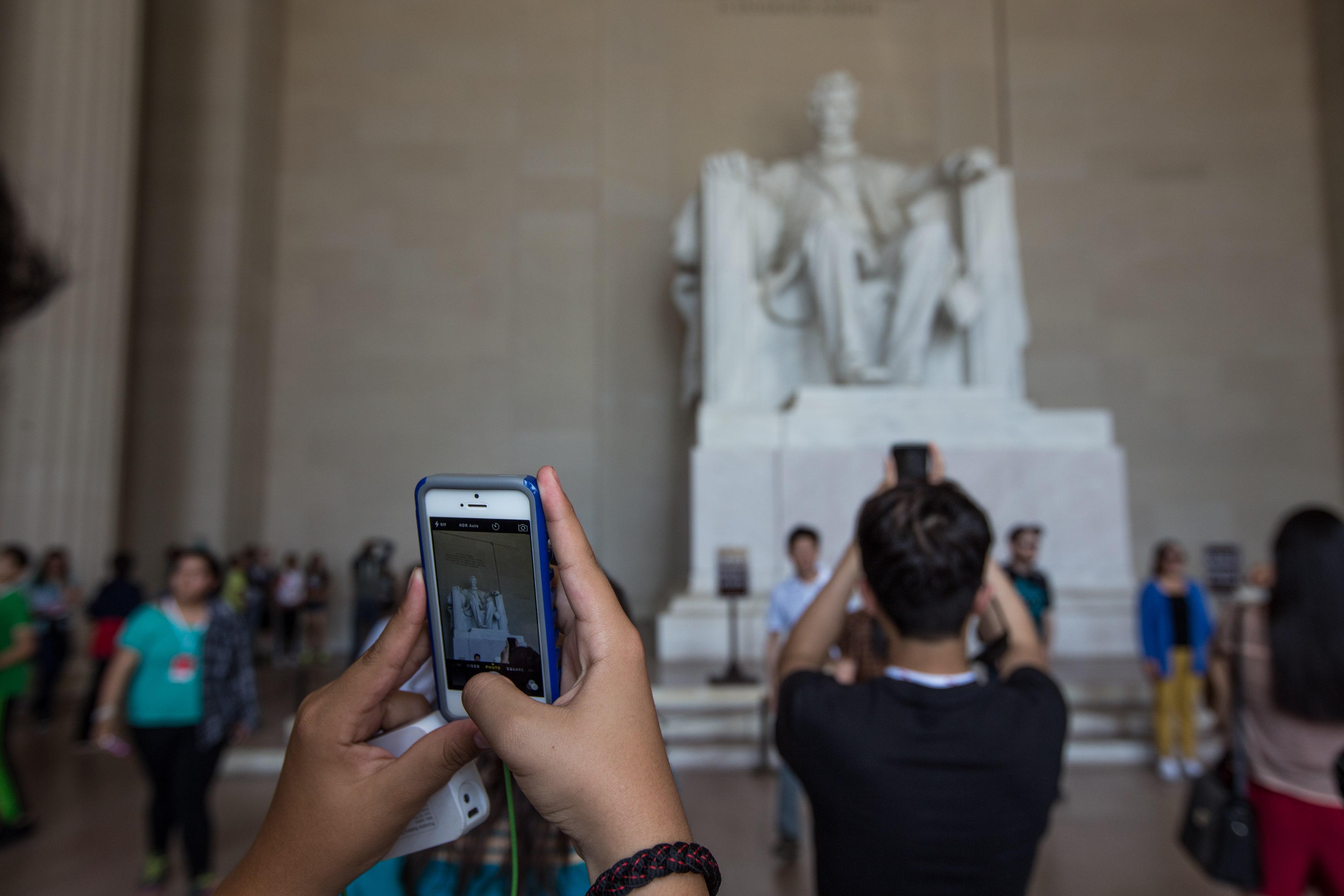 Lincoln Memorial Selfie