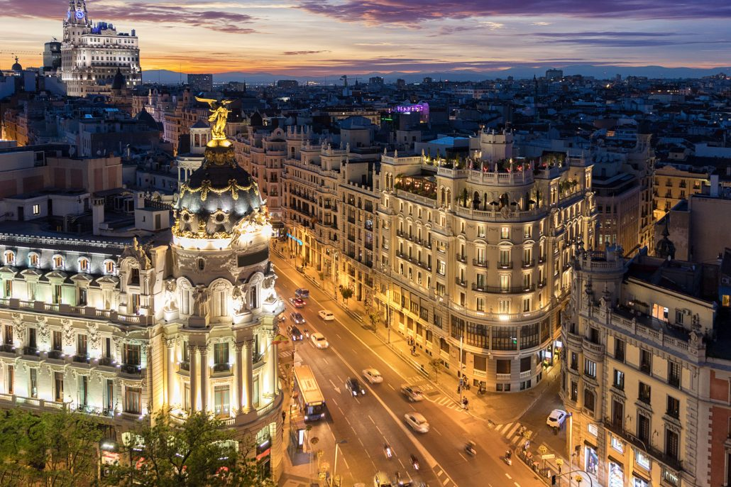 Experience the Madrid Skyline, Spain
