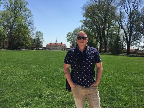 Kevin at Mount Vernon