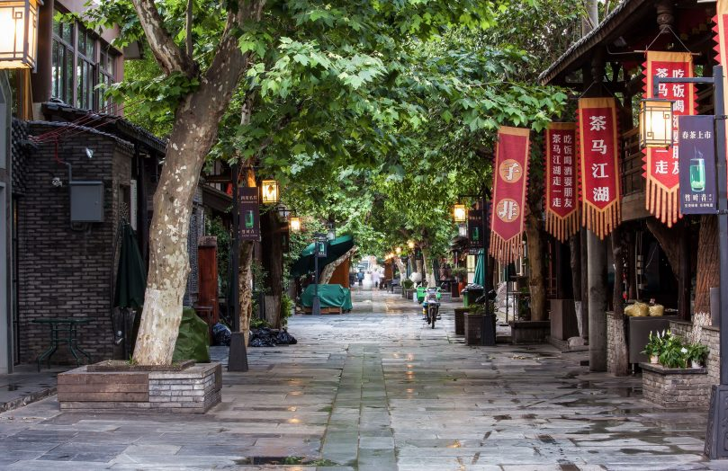 Kuanzhai Alleys Scenery, China