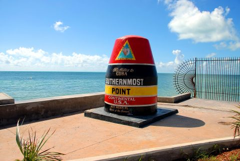 Southernmost point marker in Florida