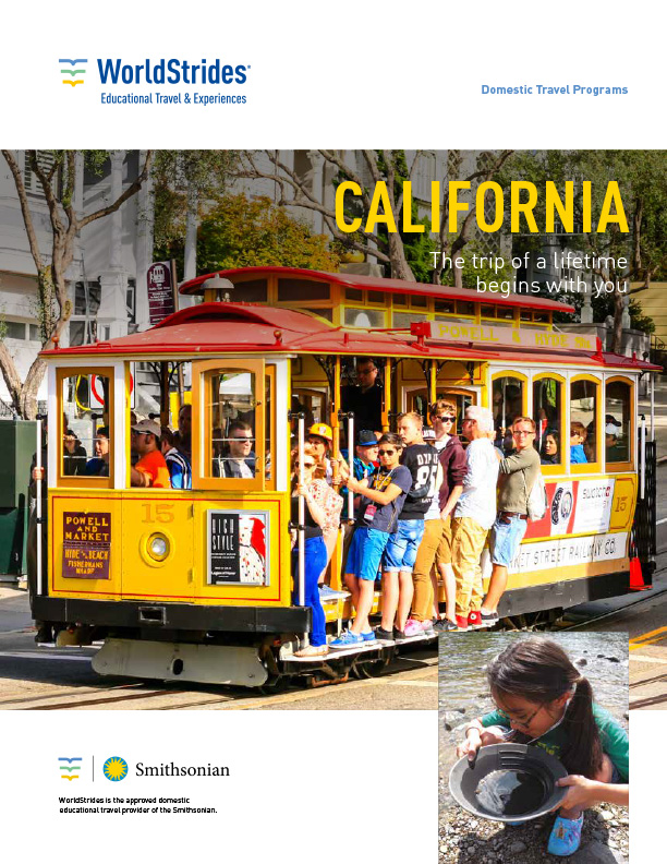 WorldStrides California History Travel Planner