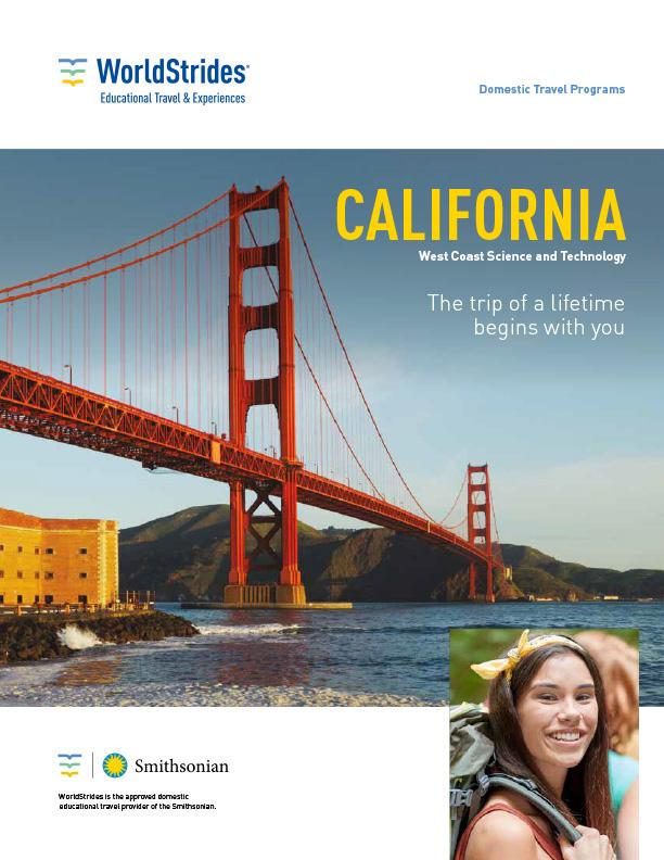 WorldStrides West Coast STEM Travel Planner