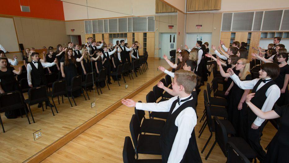 Choral Group Warmup Workshop, Performing
