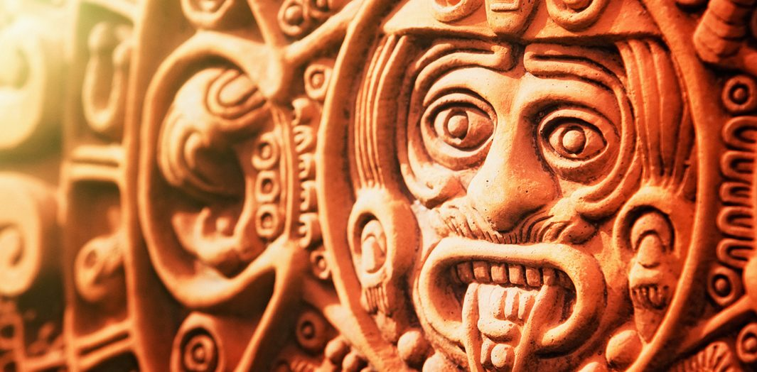 Stone of the Sun carved by the Aztecs in 1500s
