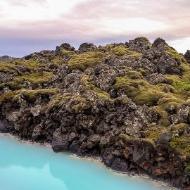 Blue Lagoon Iceland online meeting background