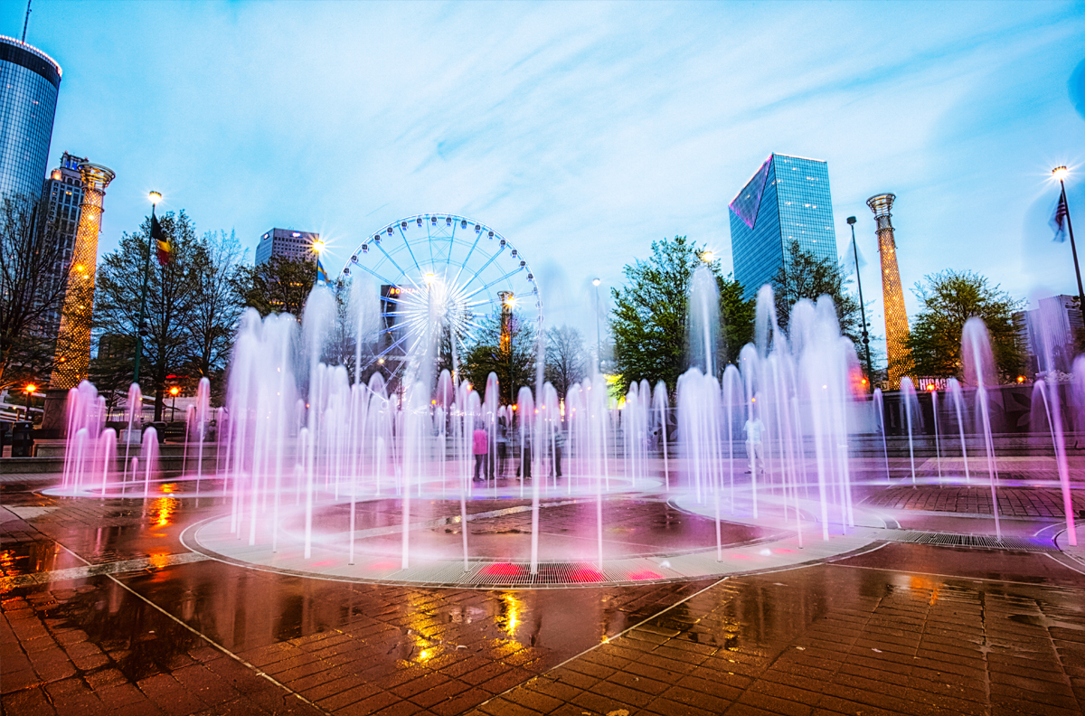 Centennial-Fountain, Chicago