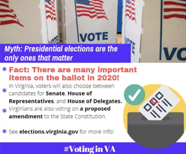 Photo in regards to voting in Virginia, debunking myth that presidential elections are the only ones that matter