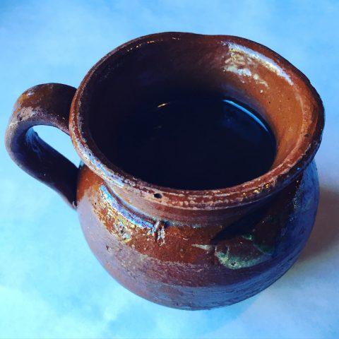 Cafe de Olla in a traditional earthenware pot