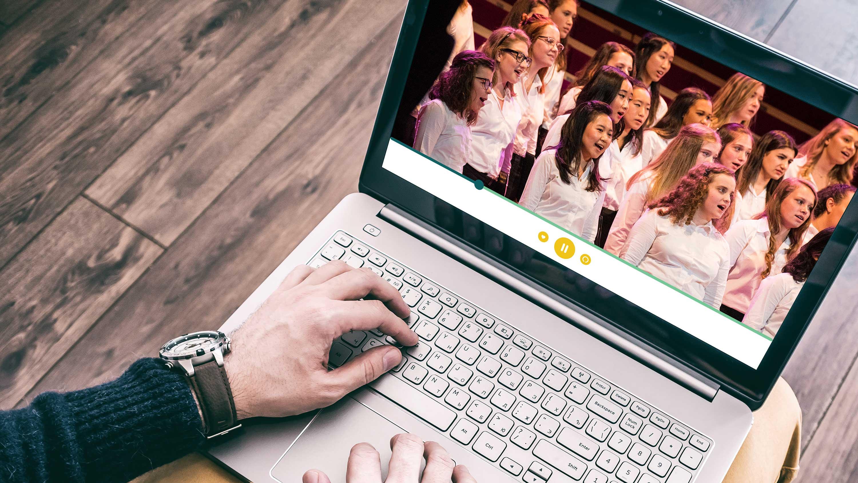 performance on laptop screen virtual festival